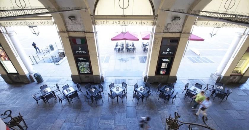 Turin's historic chocolatier Stratta under the porticoes of Piazza San Carlo | Courtesy Stratta1836