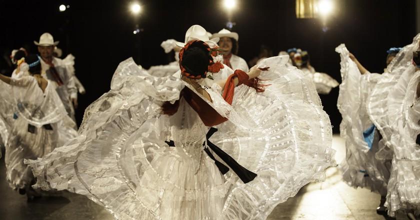 The Anita N. Martinez Ballet Folklorico group performs a beautiful dance
