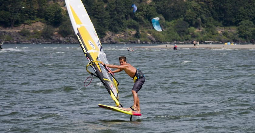 Windsurfer in Hood River, OR