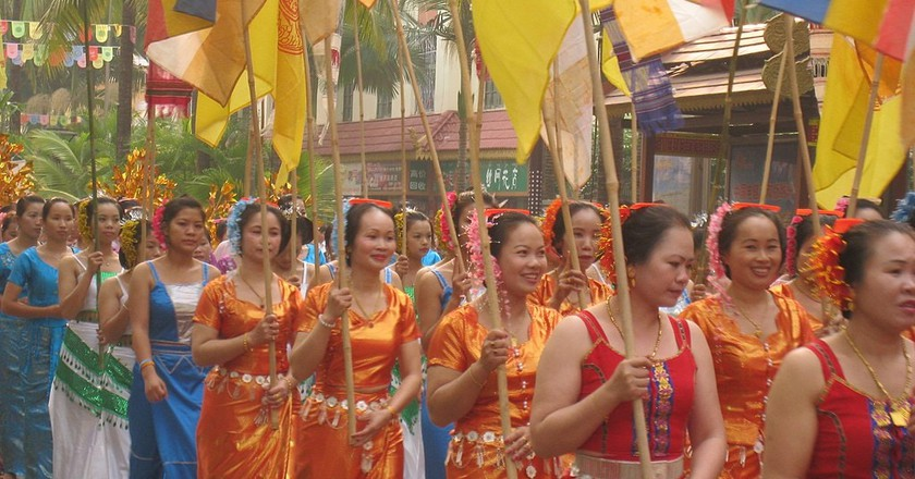 Dai Women Celebrate Thai New Year