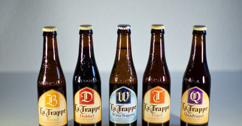 Five of La Trappe's beers