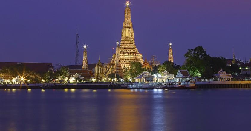 Wat Arun at night: one of Bangkok's most iconic views   © KT Formen / Flickr