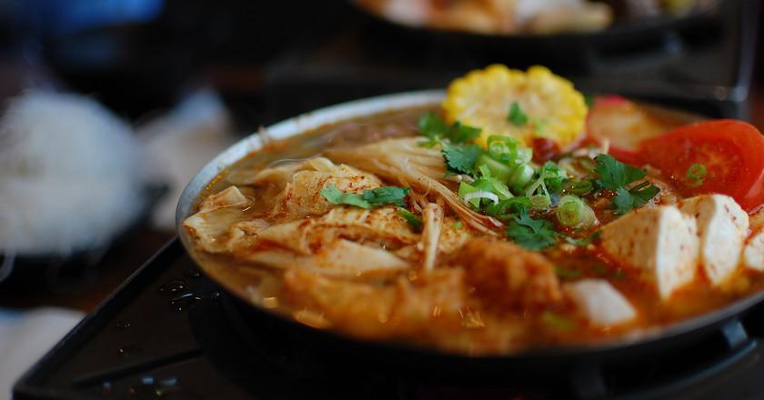 Have a hot pot feast at Ducki Suki
