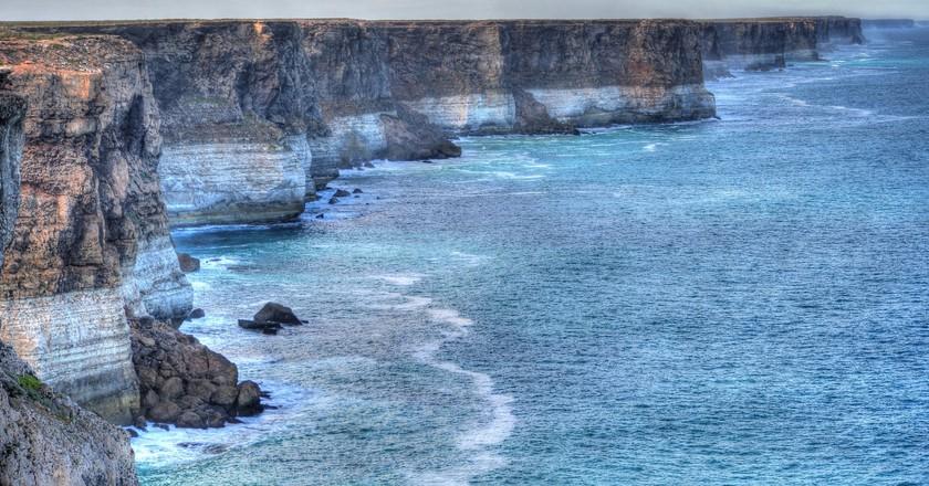 The defining colours of Bunda Cliffs