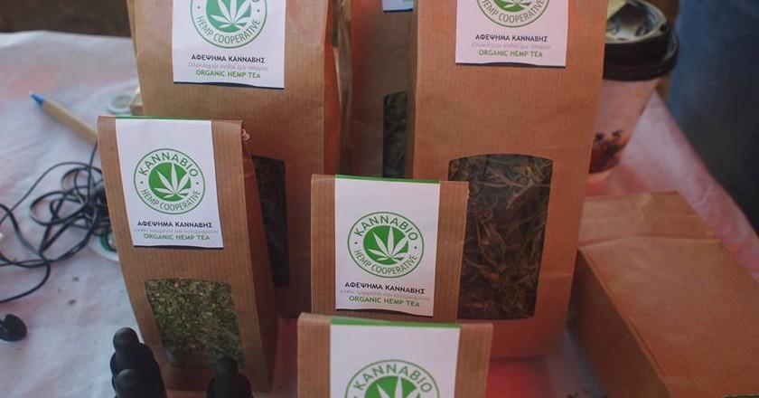 Hemp tea from KannaBio Hemp Cooperative