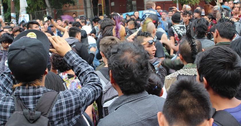 The crowd at Chopo Tinaguis