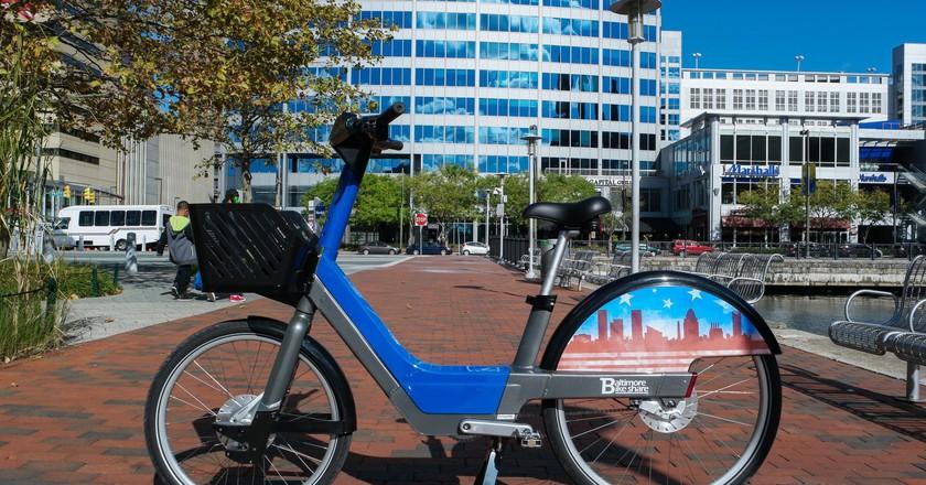 Baltimore Bike Share's Pedelec (Electric) bicycle