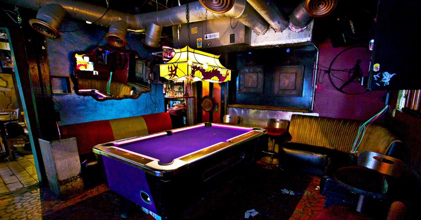 The Grapevine Bar has a billiards table and cheap drinks