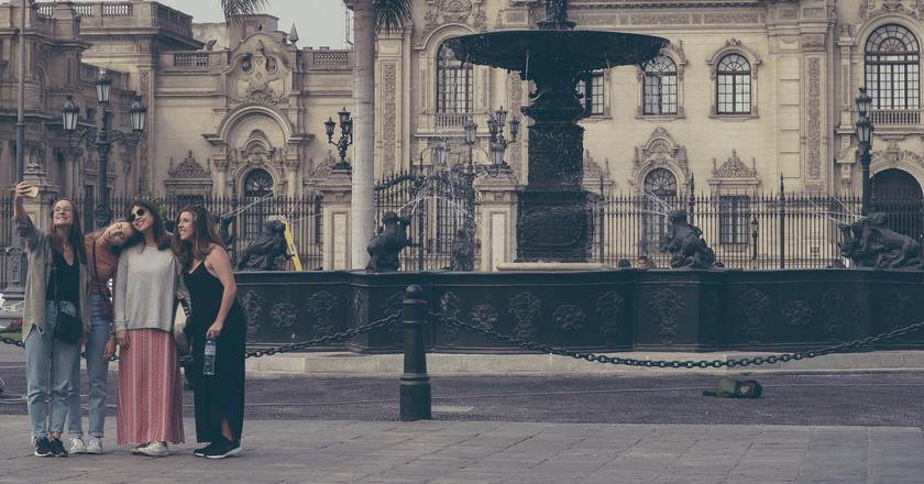 Exploring the historical center of Lima