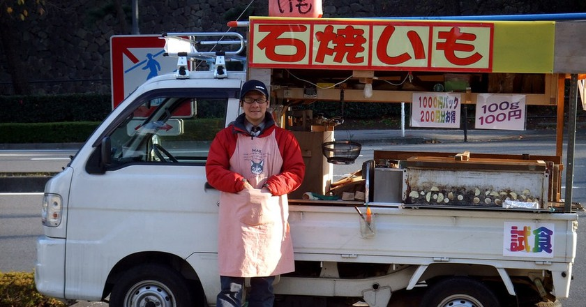 Sweet potato truck