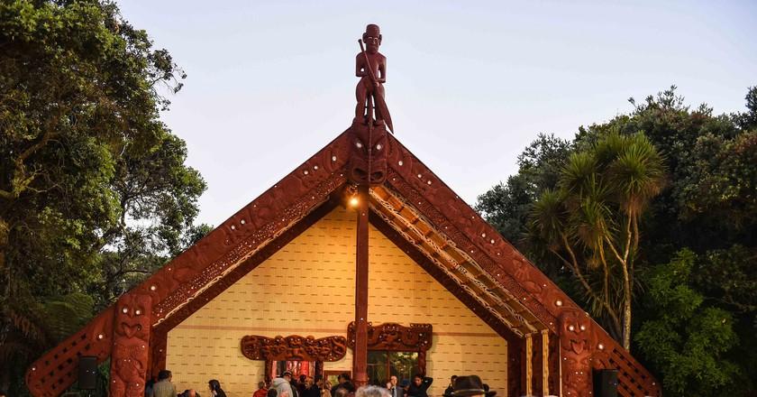 Waitangi Day dawn ceremony at the Waitangi Treaty grounds