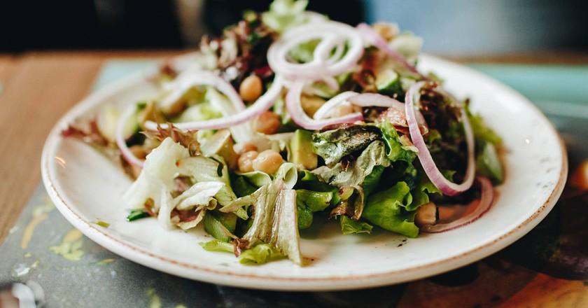 Healthy and tasty salad
