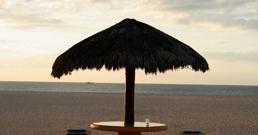 Beachfront drinking in Los Cabos