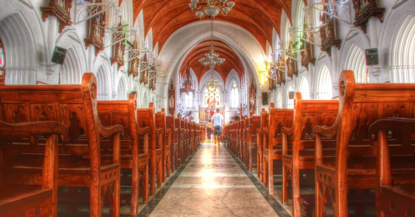 The San Thome Cathedral Basilica is one of the oldest churches in Chennai