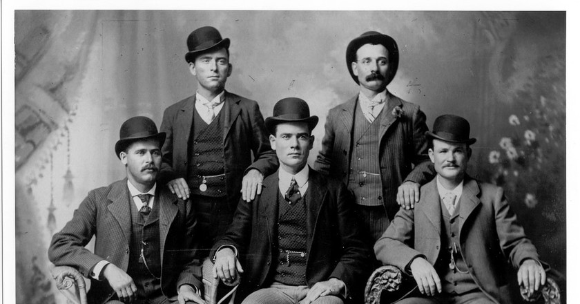 Butch Cassidy and the Sundance Kid are pictured with The Fort Worth Five