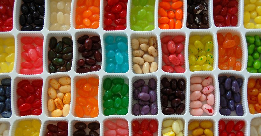 Taste a variety of jelly beans