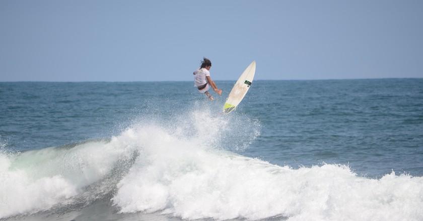 Surfing in El Salvador