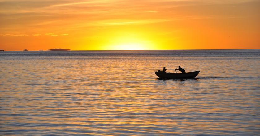 Sunset Lake Titicaca   © Richard/Flickr