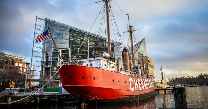 Lightship Chesapeake in Inner Harbor