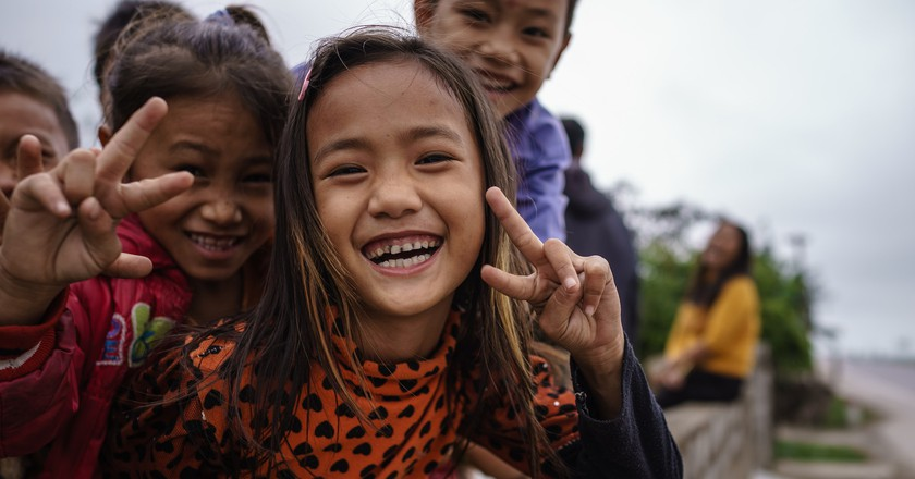 Kids in Ha Tinh, Vietnam