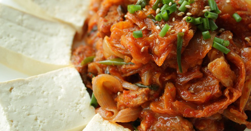 With over 100 known varieties, kimchi is ubiquitous throughout South Korea.