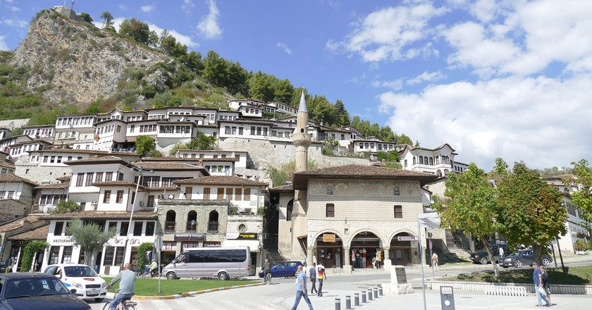 Mangalem district in Berat, with its traditional Ottoman-era houses