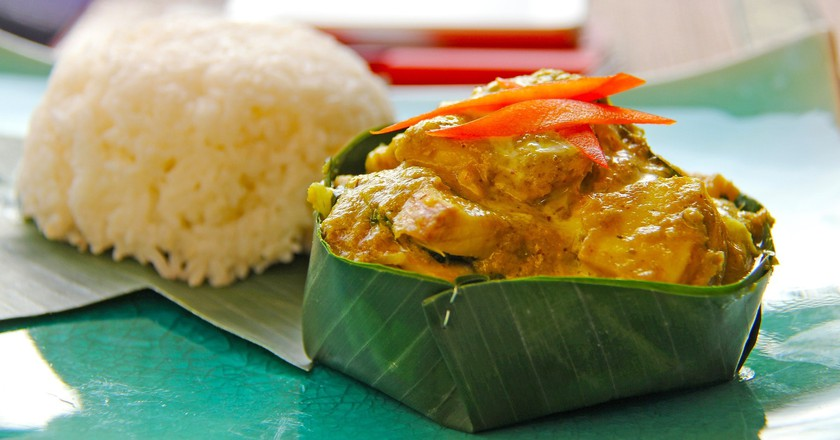 Fish amok is a signature Cambodian dish