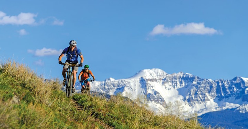 Mountain biking in Telluride in the summer is a great daytime activity.
