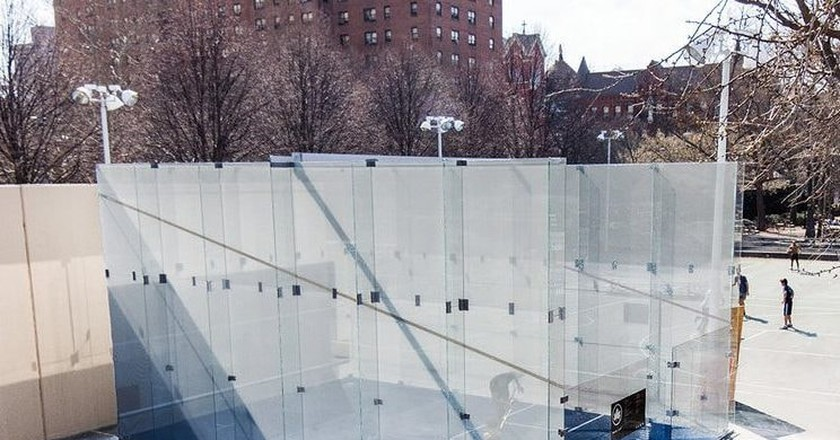 New York City's first outdoor public squash court