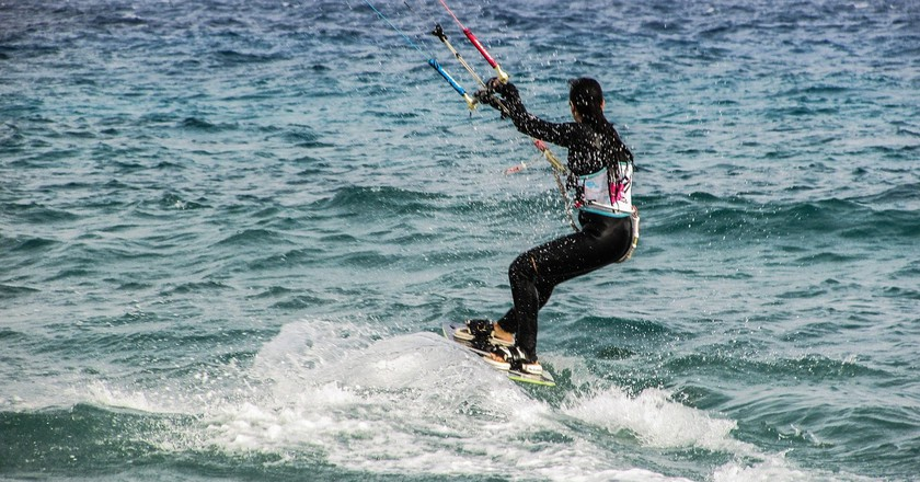 Try kite surfing to explore the coastline of Cyprus