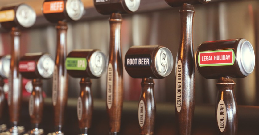 Legal Draft Beer Co. has a wide variety of craft beers on tap.