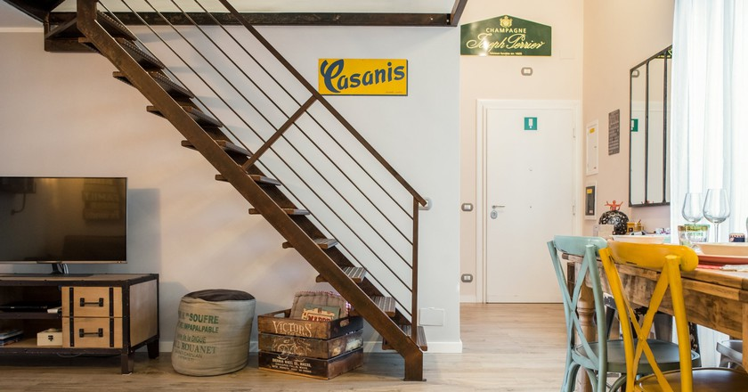 One of Monti's many stylish Airbnbs
