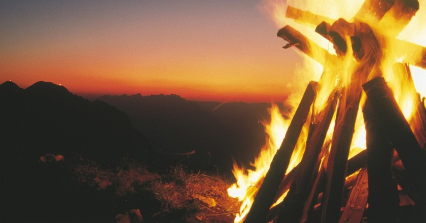 One of the individual fires   © Austrian Tourist Board
