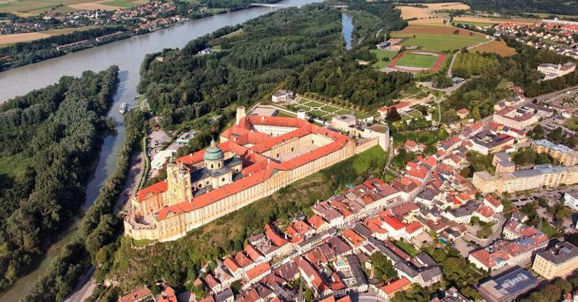 Aerial view of Melk
