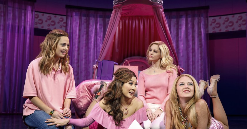 "Erika Henningsen, Ashley Park, Taylor Louderman, and Kate Rockwell in ""Mean Girls"""