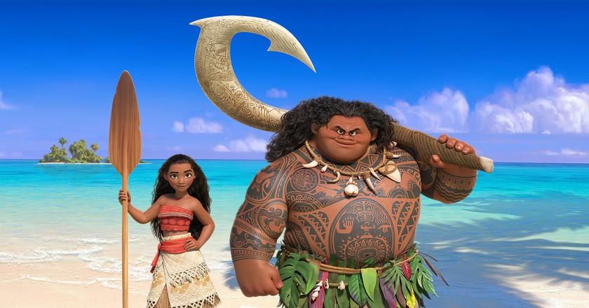 Moana & Maui from the Disney film