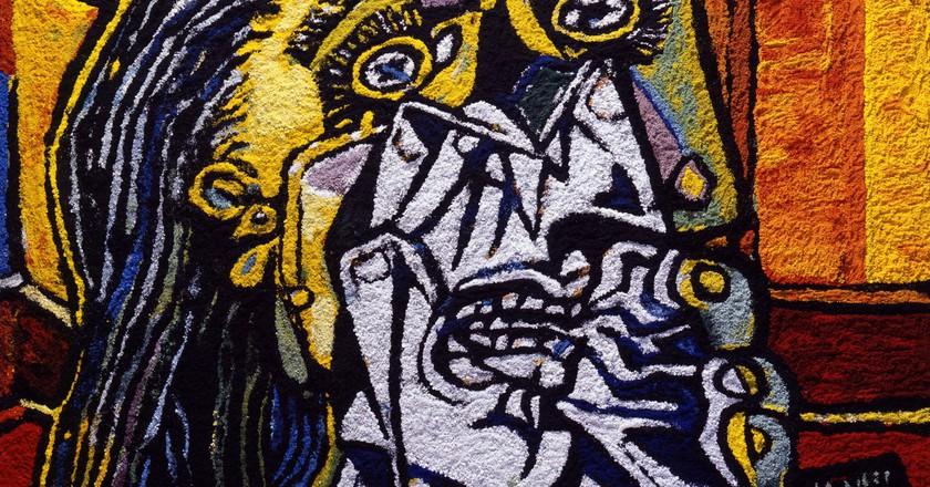Vik Muniz, 'Weeping Woman, After Picasso,' 2007 | © Vik Muniz, Courtesy Edwynn Houk Gallery, New York & Zürich