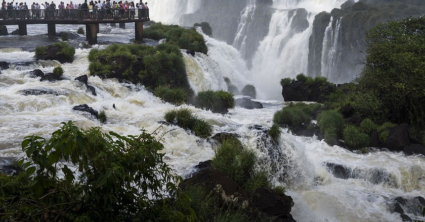 The Iguacu falls are easy to get to from Foz do Iguacu city center