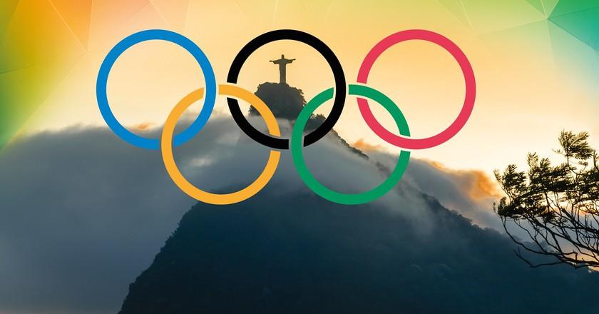Olympic rings in Rio