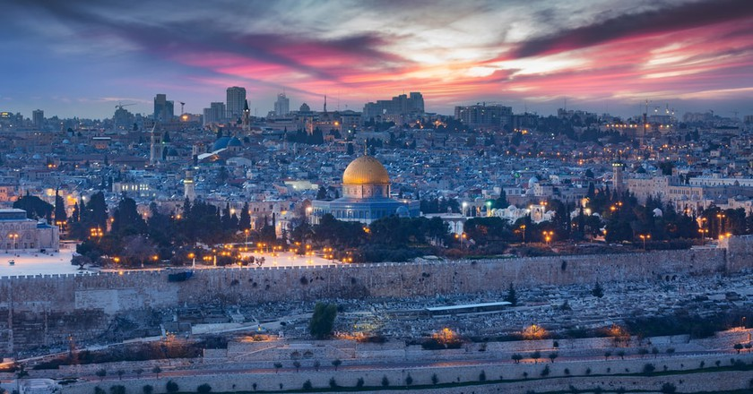 View of Jerusalem's Old City, Israel
