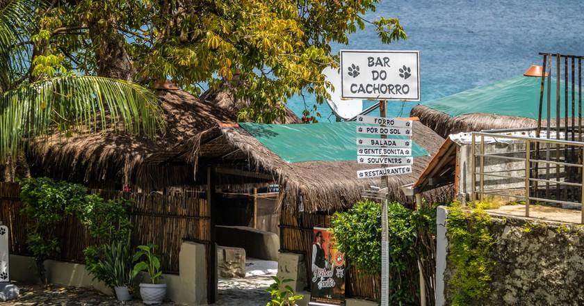 The Bar do Cachorro - Dog Bar - in Fernando de Noronha, Brazil