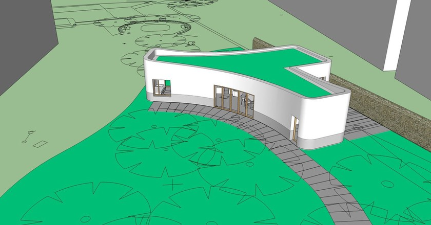 The plans of the 3D-printed house