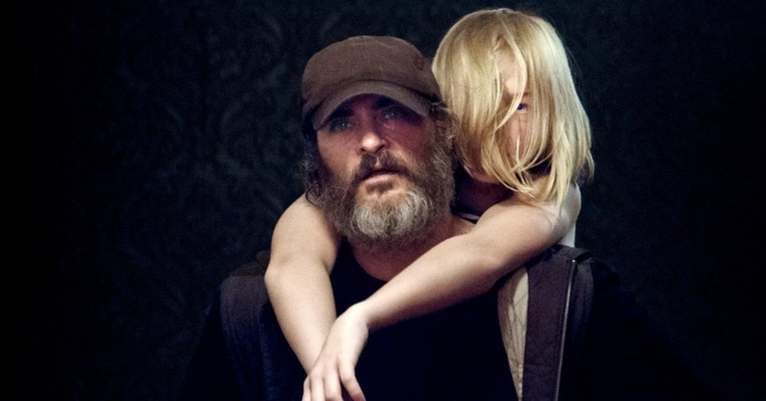 """Joaquin Phoenix and Ekaterina Samsonov in """"You Were Never Really Here"""""""