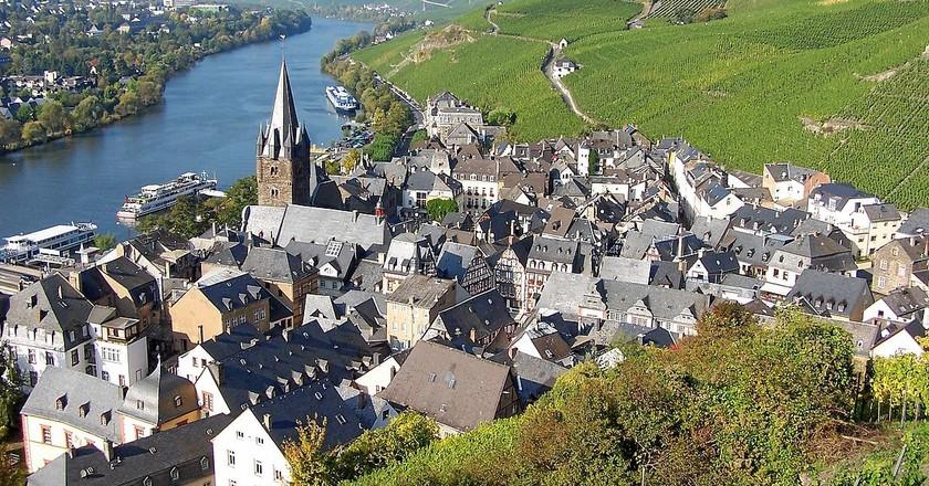 Bernkastel-Kues aerial view