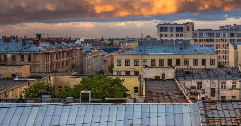 Roofs of St Petersburg