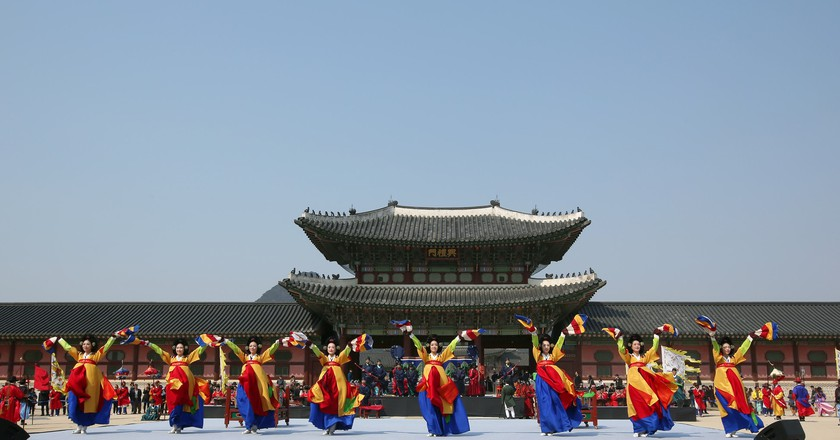 Royal Guard Appointment Ceremony at Gyeongbokgung Palace   © KoreaNet / Flickr