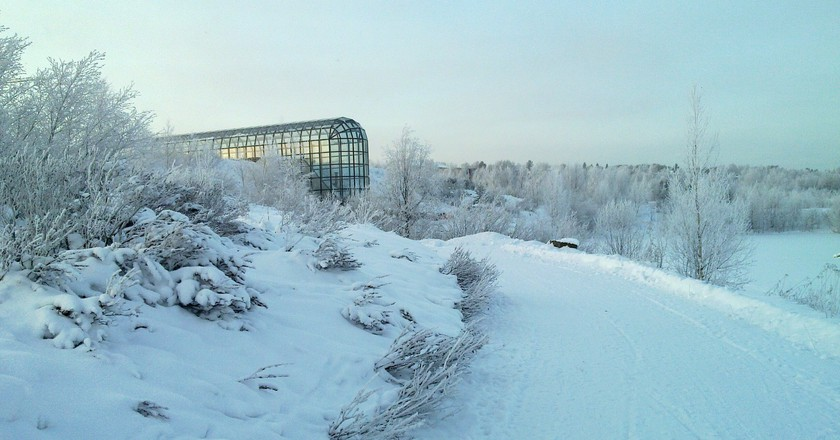 View of Arktikum in Rovaniemi