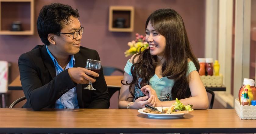 Enjoy dining out at Riverside, Phnom Penh