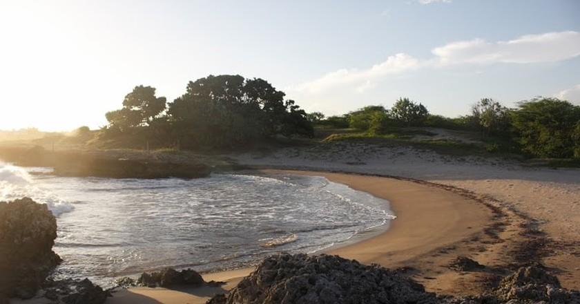 The beach outside Myco
