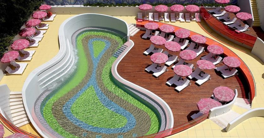 Semiramis Hotel pool in Athens